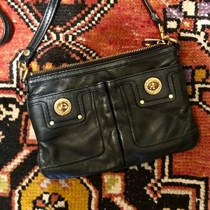 Marc Jacobs Black Leather Crossbody Bag